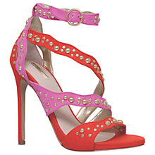 Buy Carvela Gladly Multi Strap Stiletto Sandals, Red Comb Online at johnlewis.com
