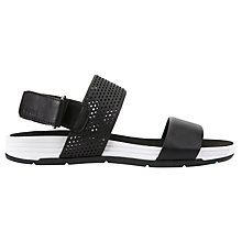 Buy Geox Koleos Flat Sandals, Black Online at johnlewis.com