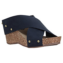 Buy Carvela Sooty Cross Strap Wedge Heeled Sandals Online at johnlewis.com