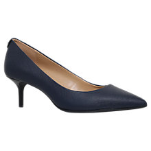 Buy MICHAEL Michael Kors Flex Pump Kitten Heeled Court Shoes, Navy Online at johnlewis.com