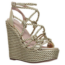 Buy KG by Kurt Geiger Notty Wedge Heel Sandals, Gold Online at johnlewis.com