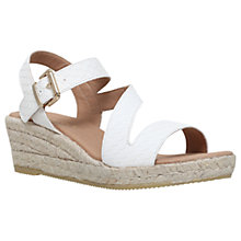 Buy Carvela Kloak Wedge Heel Sandals, White Online at johnlewis.com