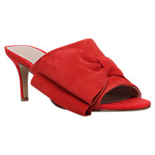 Buy KG by Kurt Geiger Hilda Bow Stiletto Sandals, Red Online at johnlewis.com