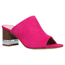Buy KG by Kurt Geiger Hector Mule Block Heeled Sandals, Pink Online at johnlewis.com