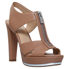 Buy MICHAEL Michael Kors Bishop Zip Block Heeled Sandals Online at johnlewis.com