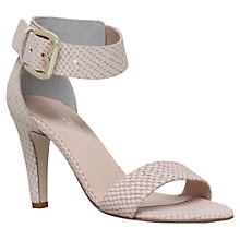 Buy Carvela Kitty Cone Heeled Sandals, Cream Online at johnlewis.com