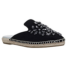 Buy Carvela Keep Backless Espadrilles, Black Online at johnlewis.com