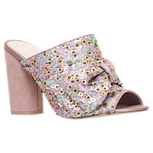 Buy KG by Kurt Geiger Jessie Block Heeled Sandals, Pale Pink Online at johnlewis.com