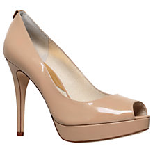 Buy MICHAEL Michael Kors York Stiletto Peep Toe Sandals Online at johnlewis.com