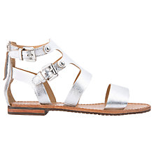 Buy Geox Sozy Gladiator Sandals, Silver Online at johnlewis.com