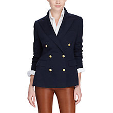 Buy Polo Ralph Lauren Double Breasted Blazer, Aviator Navy Online at johnlewis.com