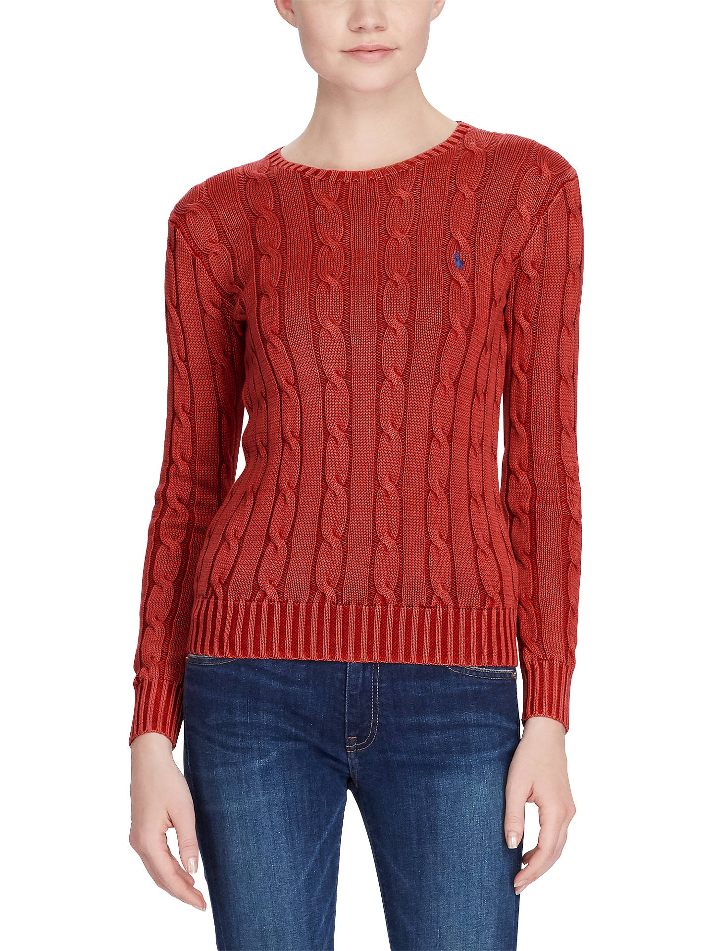 fe2632fc9ccb3 Polo Ralph Lauren Cable-Knit Cotton Jumper at John Lewis   Partners