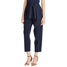 Buy Polo Ralph Lauren Twill High Rise Trousers, Park Avenue Navy Online at johnlewis.com