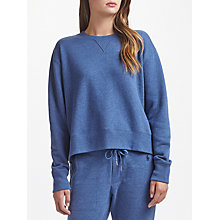 Buy Polo Ralph Lauren Fleece Round Neck Sweatshirt, Blue Heather Online at johnlewis.com