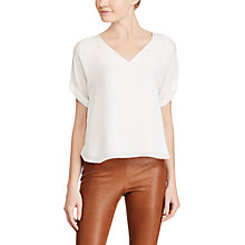 Buy Polo Ralph Lauren Silk Blouse, Pure White Online at johnlewis.com