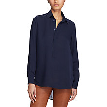 Buy Polo Ralph Lauren Long Sleeve Blouse, Park Avenue Navy Online at johnlewis.com