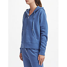 Buy Polo Ralph Lauren Fleece Full Zip Hoodie, Blue Heather Online at johnlewis.com