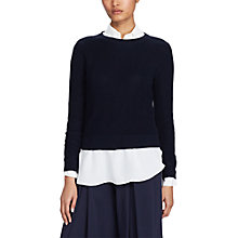 Buy Polo Ralph Lauren Button Back Jumper, Admiral Navy Online at johnlewis.com