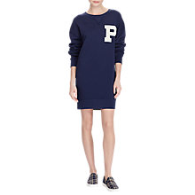 Buy Polo Ralph Lauren Varsity Jumper Dress, Navy Online at johnlewis.com
