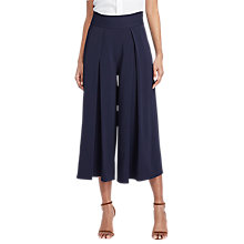 Buy Polo Ralph Lauren Pleated Wide Leg Trousers, Park Avenue Navy Online at johnlewis.com