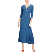Buy Polo Ralph Lauren Henley Dress, Shale Blue Heat Online at johnlewis.com