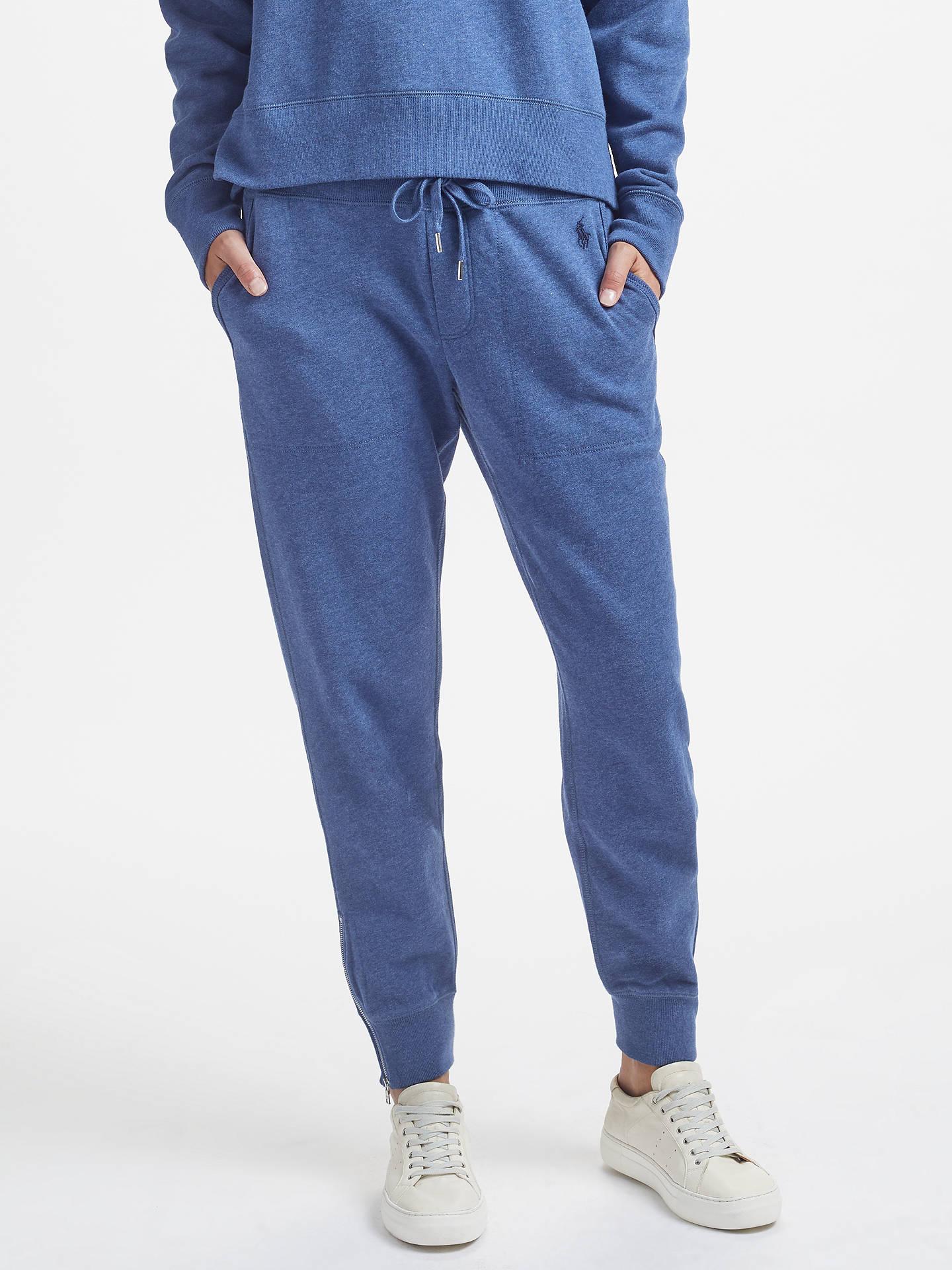 BuyPolo Ralph Lauren Fleece Jogger Pants, Blue Heather, XS Online at  johnlewis.com ... ec15bd2a133a
