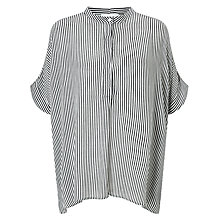 Buy Samsoe & Samsoe Sami Stripe Shirt, Dark Blue Online at johnlewis.com