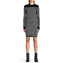 Buy AllSaints Ash Stripe Dress, Ink Blue/Cream Online at johnlewis.com