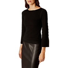 Buy Karen Millen Contrast Knit Jumper, Black Online at johnlewis.com