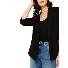 Buy Miss Selfridge Black Petites Ruched Sleeve Blazer, Black Online at johnlewis.com