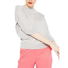 Buy Miss Selfridge Frill Split Sleeve Jumper, Grey Online at johnlewis.com