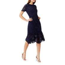 Buy Coast Linera Lace Dress, Navy Online at johnlewis.com