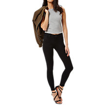 Buy Miss Selfridge Sofia Ultra Soft Jeans, Black Online at johnlewis.com