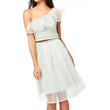 Buy Miss Selfridge Petite Spot Mesh Skirt, Ivory Online at johnlewis.com