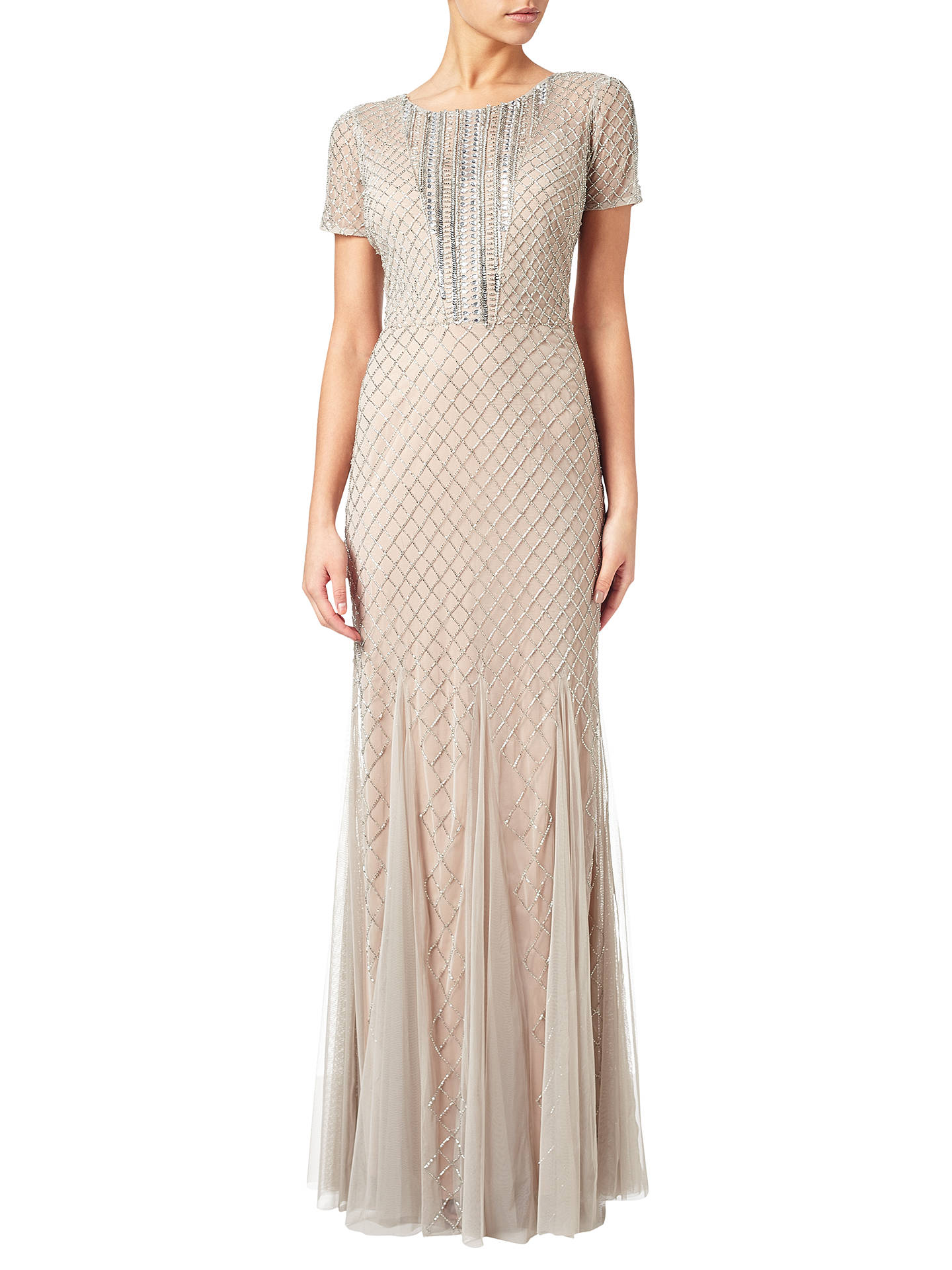 1a5792a5754 Buy Adrianna Papell Petite Short Sleeve Beaded Gown