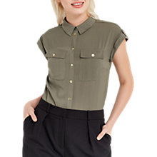 Buy Oasis Soft Safari Shirt, Khaki Online at johnlewis.com