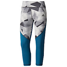 Buy Adidas Ultimate Cut and Sew 3/4 Training Tights, Blue/Grey Online at johnlewis.com