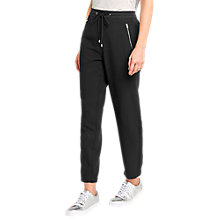 Buy Oasis Zip Detail Trousers, Black Online at johnlewis.com