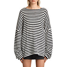 Buy AllSaints Casso Oversized Crew Neck Jumper Online at johnlewis.com