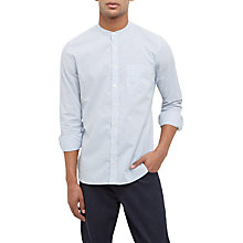 Buy Jaeger Stripe Grandad Collar Shirt, Blue Online at johnlewis.com