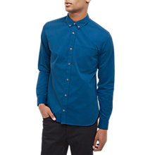 Buy Jaeger Brushed Twill Pocket Shirt, Blue Online at johnlewis.com
