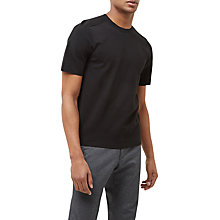 Buy Jaeger Airtex Short Sleeve Jumper, Black Online at johnlewis.com