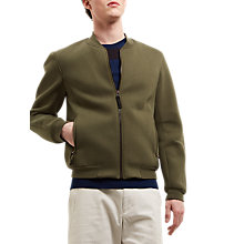 Buy Jaeger Lou Dalton Bomber Jacket, Khaki Online at johnlewis.com