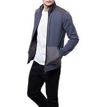 Buy Jaeger Cotton Full Zip Sweatshirt, Midnight Online at johnlewis.com