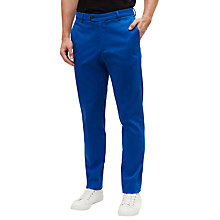 Buy Jaeger Twill Slim Chinos, True Blue Online at johnlewis.com