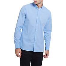 Buy Jaeger End on End Regular Fit Shirt, Light Blue Online at johnlewis.com