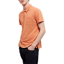 Buy Jaeger Jersey Pique Polo Shirt, Orange Online at johnlewis.com