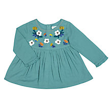 Buy John Lewis Baby Woven Top, Green Online at johnlewis.com
