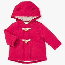 Buy John Lewis Baby Toggle Parka Jacket, Red Online at johnlewis.com