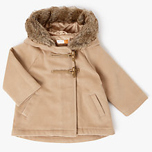 Buy John Lewis Baby Toggle Coat, Camel Online at johnlewis.com
